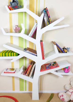 Полка-дерево стеллаж для книг и игрушек для гостиной или детское