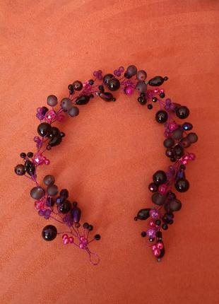 Фиолетовая веточка для волос