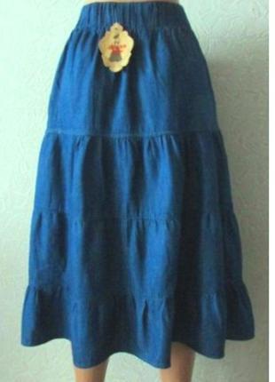 Джинсовая юбка большой размар