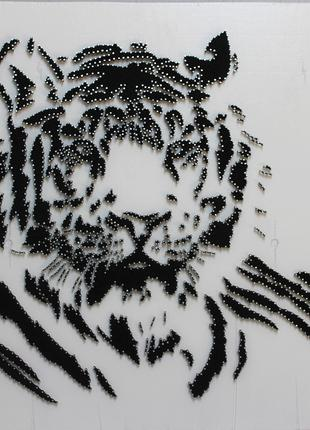 Тигр. Картина в стиле Стринг Арт