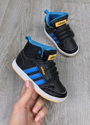Модные хайтопы на липучке adidas