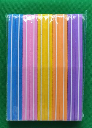 Набор гибких бафиков для шлифовки ногтей 100/180 грит 10 штук