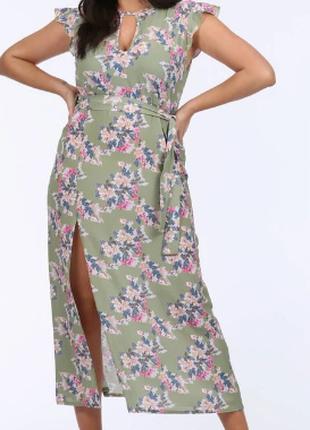 Платье макси  большого  размера   Англия. Pink Clove