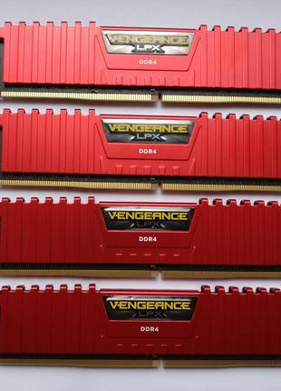 Продам оперативку Corsair 16GB(2x8GB) DDR4-3200 RED (оф.гарантия)