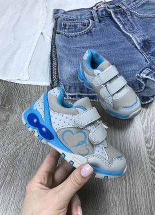 ️мигающие кроссовки на липучках