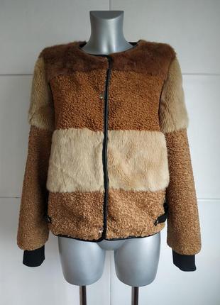 Стильная куртка-шубка из искусственного меха new look