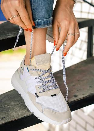Adidas nite jogger x 3m white