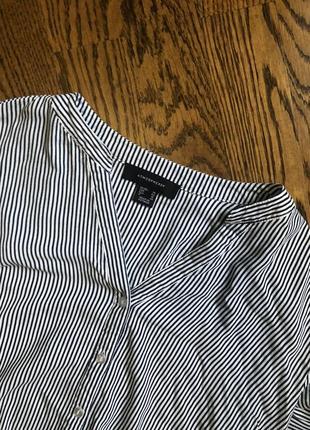 Полосатая рубашка блуза/ в полоску/ белая блузка/ рубашка