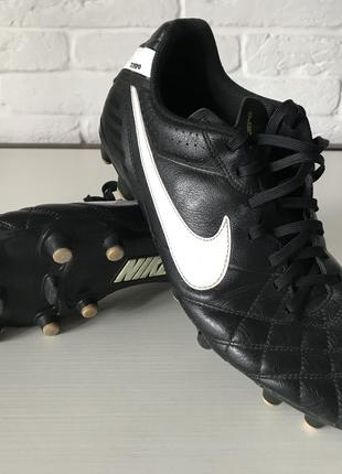 Футбольные бутсы Nike Tiempo US 9.5 + подарок