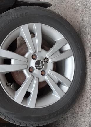 Диски оригинал Fiat (Citroen) + новая летняя резина