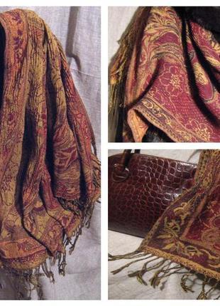 Нежный и мягкий двусторонний шарф. шаль, палантин, накидка