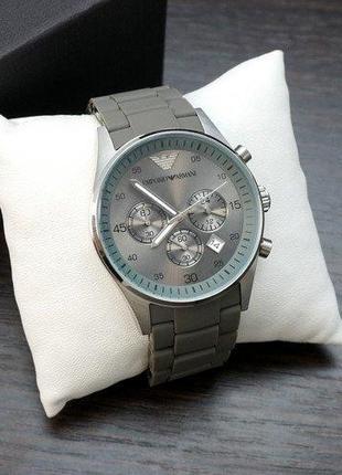 Наручные часы премиум Emporio Armani AR-5905 Silver-Gray Silicone