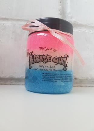 Скраб для тела и лица жвачка bubble gum