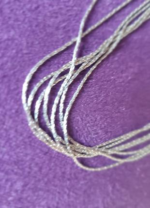 Многослойное колье серебро 925