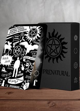 Сверхъестественное - Supernatural - сувенирные игральные карты.