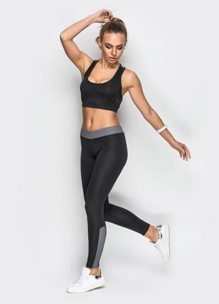 Женский комплект для фитнеса лосины + топ , спортивный костюм