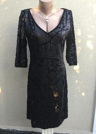 Чёрное,бархат,велюр платье по фигуре в пайетки,вечернее,большо...