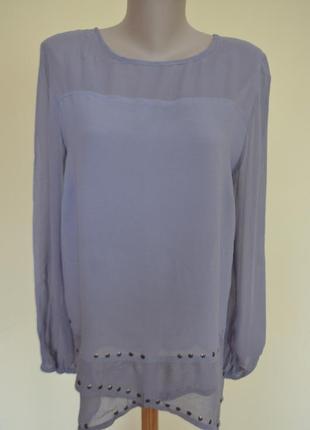 Шикарная блузочка из вискозы удлиненная длинный рукав