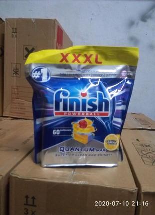Finish quantum max 60шт таблетки для посудомоечной машини!