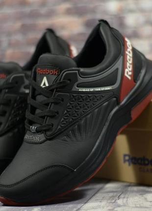 Мужские кожаные кроссовки в стиле reebok