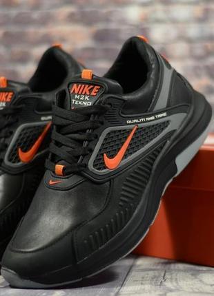 Мужские кожаные кроссовки в стиле nike