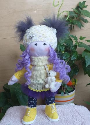 Кукла большеножка-снежка
