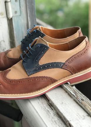 Туфли ботинки оксфорды броги из натуральной кожи