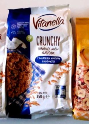 Кранчи овсяные Vitanella Crunchy Owocowe