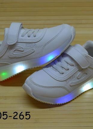 Детские кроссовки с подсветкой подошвы