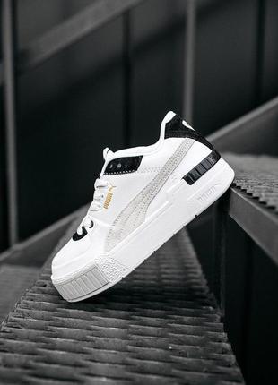 Puma cali sport mix white black женские стильные кроссовки