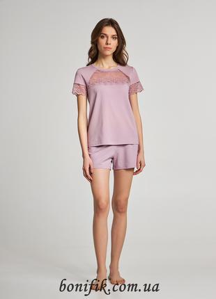 Женская пижама с футболкой и шортами  (размер L, XL) LNP 283/001