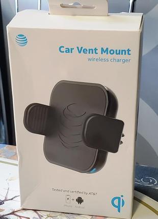 Автодержатель с быстрой беспроводной зарядкой AT&T Car Wireless