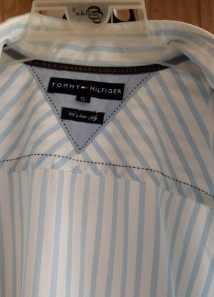 Рубашка летняя Tommy Hilfiger 100's two-ply, 100% хлопок, XL (xg)