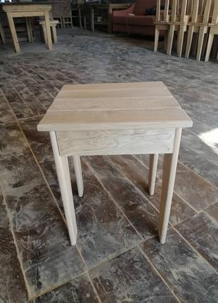 Табуретка из дуба, Стул дубовый, Деревянный стул