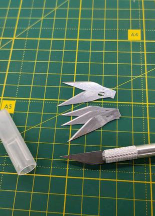 Макетный нож, скальпель с запасными лезвиями
