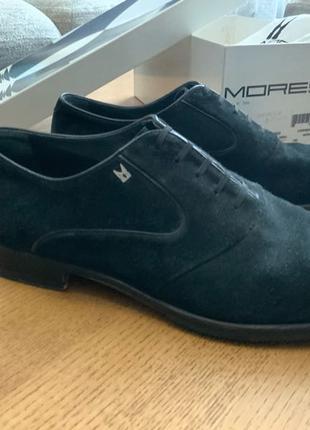 Туфли оксфорд мужские черные замша Италия Moreschi 42 размер
