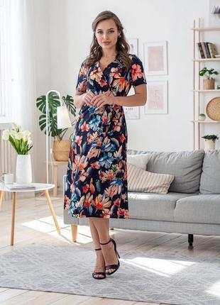 Платье женское с поясом летнее