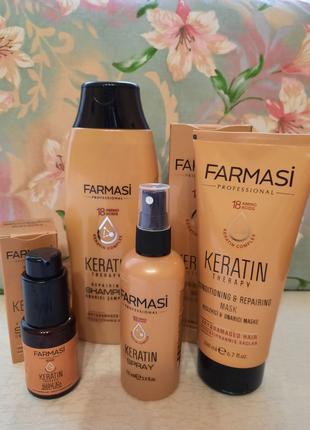 Кератинова серія для фарбованого, сухого, пошкодженого волосся.