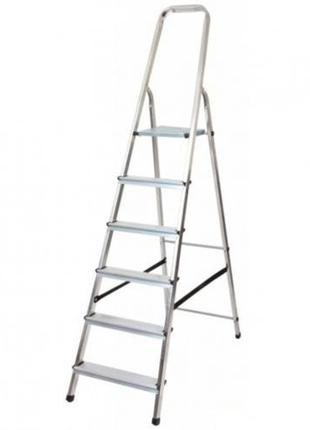 Лестница стремянка алюминиевая односторонняя на 5 ступеней