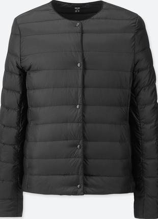 Суперлегкий жіночий пуховик коротка куртка uniqlo