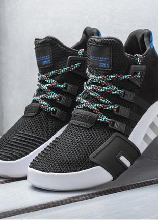 Мужские кроссовки adidas eqt bask adv (черно/белые)