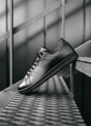 """Adidas stan smith """"""""black"""" женские стильные кроссовки"""