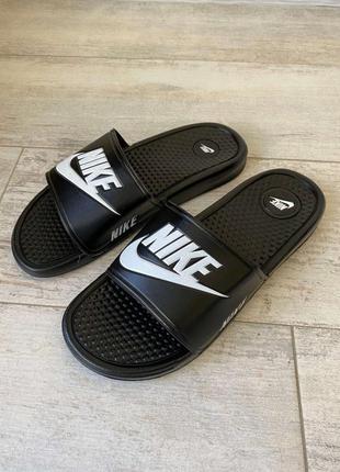 Шлепанцы nike slide sandal logo black шлепки тапки сланцы найк...