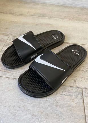 Шлепанцы nike slide sandal swoosh logo black шлепки тапки слан...
