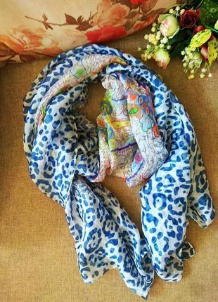 Шикарный тонкий шифоновый шарф, палантин из вискозы с шелком