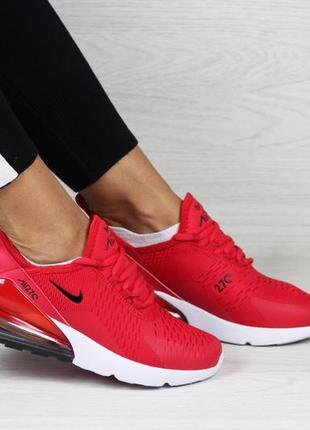 Крутые женские кроссовки nike air max 270 красные