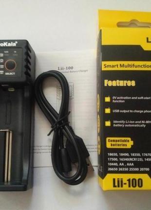 Универсальное зарядное устройство Liitokala Lii-100 (с ф-ей Power