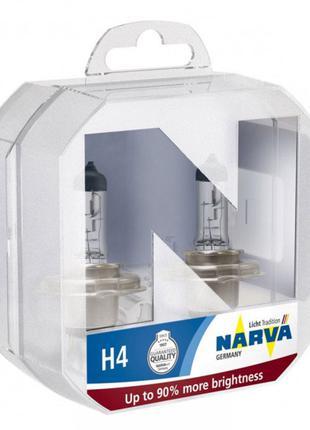Лампа галогенная H4 12V 60/55W P43T +90% Narva 48003.2BOX