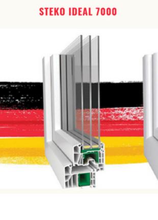 Металлопластиковые окна, двери Steko Ideal с фурнитурой MACO