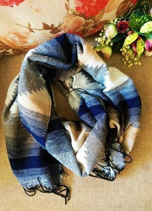 Большой объемный шарф, палантин, шарф плед